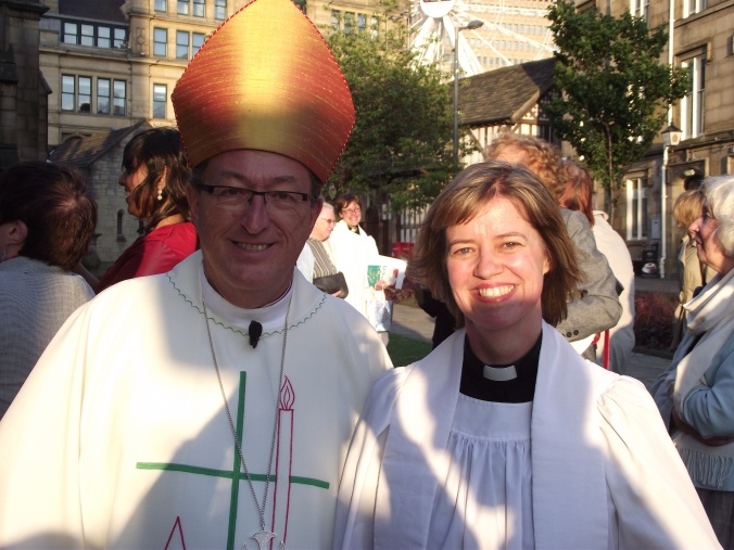 The bishop and the brand new priest
